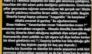 Sivaslılar'dan 2 Temmuz Olaylarına İlişkin Açıklama